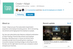 Create Adapt LinkedIn Page